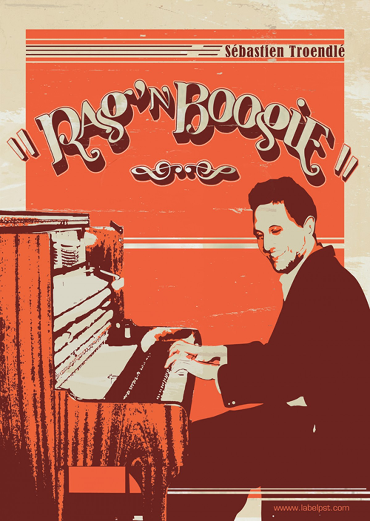 Affiche du spectacle Rag'n Boogie de Sébastien Troendlé